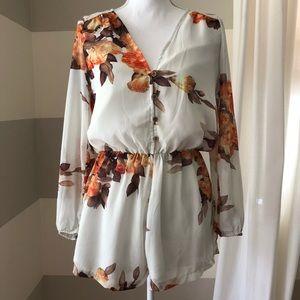 Sabo Skirt Floral Romper
